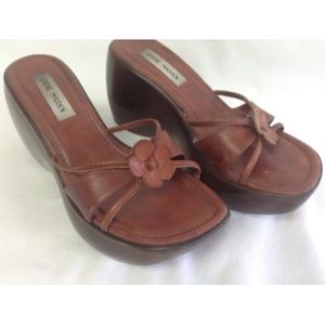 STEVE MADDEN ROSIEE Leather Brown Clogs Mule 9B